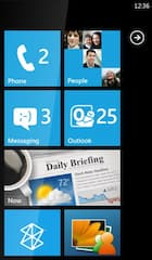 Homescreen von Windows Phone 7