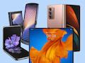 Foldables unter sich: GalaxyZ Flip, Motorola Razr, GalaxyZ Fold 2 und Huawei Mate Xs