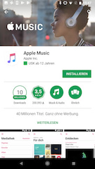 Apple Music im Google Play Store