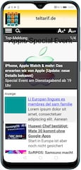Native Ad auf mobiler Homepage