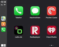 Radio.de tried out under CarPlay