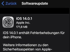 Software-Updates bei Apple