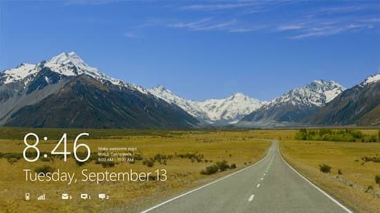 Der Lockscreen von Windows 8