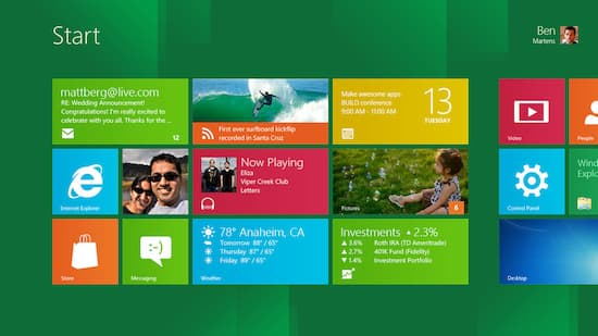 Windows 8: Neue Oberfl�che im Metro-Look